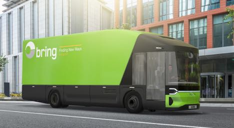 Posten bringer el-lastbil ud i virkeligheden