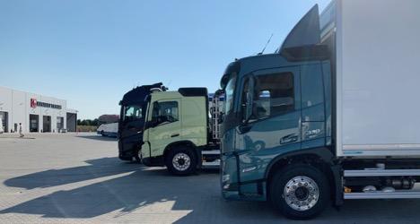 Vest-svenske lastbiler bliver vist frem med nye førerhuse